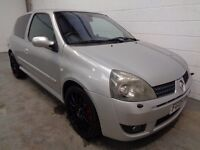 RENAULT CLIO 182 , 2005 , LOW MILEAGE + HISTORY , YEARS MOT, FINANCE AVAILABLE, WARRANTY, IMMACULATE