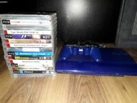 Limited Edition Blue 500gb Ps3 with games