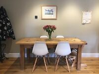 4 White Eames Replica Dining Chairs