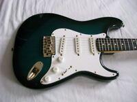 Hohner ST 59 electric guitar - Korea - '90s - Fender Stratocaster homage. - Blueburst