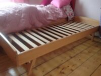Super folding TRUNDLE / GUEST BED fits under a single bed