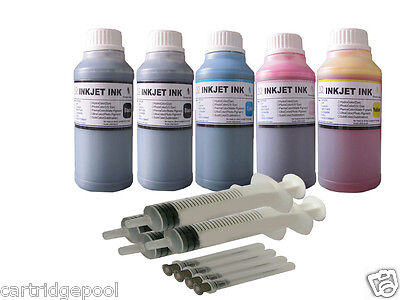 5x250ml Refill Ink For Canon Pg-210 Cl-211 Pixma Mp480 Mp...