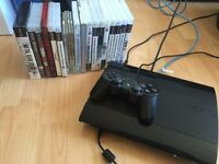 PlayStation 3 SLIM 500GB with 20+ Games + 1 controller + Thrustmaster Wheel and pedals £90