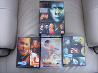Seasons 1, 2,3,4,5 of TV show 24+ season 6 & Feature film Redemption
