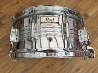 Vintage Pearl M-514D 14x6.5 Chrome Over Steel Shell Snare Drum
