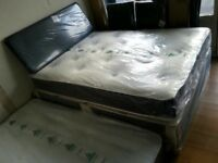 BRAND NEW single & double bed's with memory foam and orthopaedic mattresses , single £75, double £99
