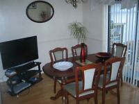 Irish Cherrywood Dining Table and 6 chairs