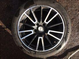 Fox alloy & new tyre