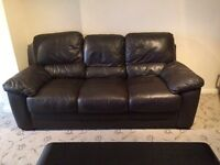 Leather Sofa 3 piece and 2 piece set