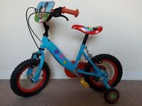 "Mickey Mouse Clubhouse Childrens Bike - 12"" wheel with stabilisers"