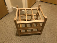 Ikea 9 bottle wooden wine rack