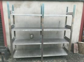 Stainless Steel Shelving 200x50x198cm