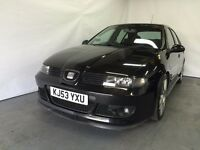 Seat Leon 1.8 20v Cupra R 2003 (53) Model Black 5 Door Hatchback