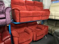 NEW - EX DISPLAY SCS ORTHOPAEDIC HIGH BACK 3 + 1 + 1 SEATER SOFAS 70% Off RRP