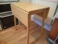 Folding kitchen table