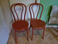 Pair of Red Kitchen/Dining Chairs
