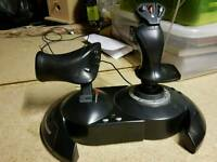 Thrustmaster flight stick and throttle control