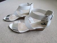 Betty Jackson Black wedge sandals size 5 (38)