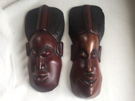 Genuine African Mahogany Sculptures