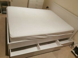 IKEA Kingsize bed frame and mattress