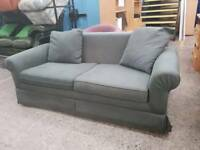 Green double sofa bed