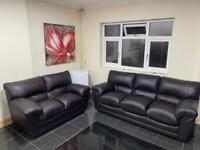 3&2 seater chocolate Brown sofa set