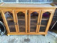 Glass fronted display cabinet/hutch