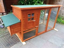 A new outdoor pet house.