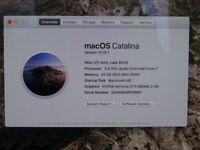 "iMac 27"" Desktop (Top Spec Late 2012) - i7 processor, 3.4GHz 24GB RAM, 1TB fusion drive"