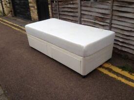 Divan single bed with mattress