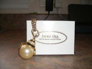 JACKIE ORR DESIGNER COLLECTION - Rope Chain With Pearl Pendant