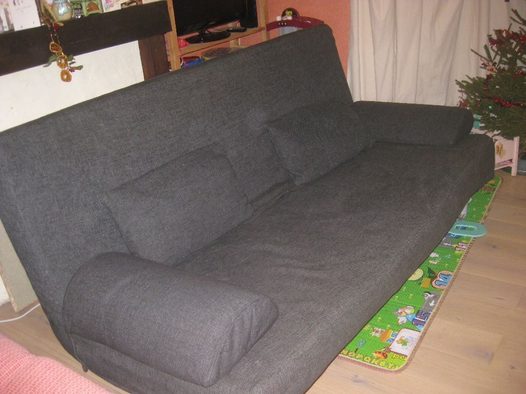 Ikea Exarby Three Seat Sofa Bed With Storage Box Cushions