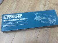 Erbauer 10 piece SDS Hammer drill set