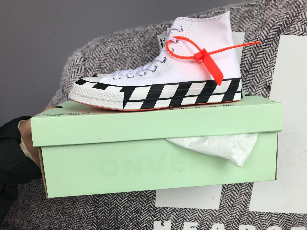 0e253d596966e9 Off white converse chuck Taylor hi 1970s UK size 7.5 and UK size 5.5 for  sale
