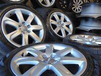 18inch genuine b8 alloys wheels rotor arm audi a4 a6 a5 a8 a3 5x112 golf vw caddy t4 t3 s line