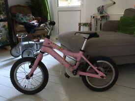 ridgeback honey 14 inch girls bike pink