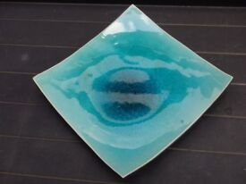 Decorative turquoise plate