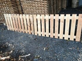 Fence wooden panels garden