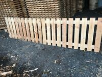 Fence wooden panels garden