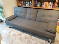 *SOLD* Grey sofabed FREE sofa futon fabric