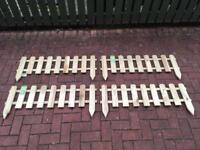 Timber picket fence panels x 4
