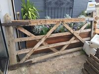 HEAVY DUTY SOLID FOUR BAR GARDEN / PADDOCK GATE WITH HINGES AND BOLT