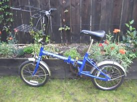 Folding bicycle.
