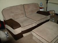 Sofa and chair with foot stool 15 months old