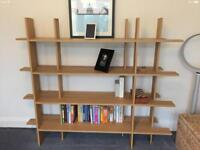 Lovely oak veneer bookcase - excellent condition