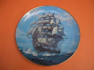 W.S. GEORGE TWILIGHT UNDER THE FULL SAIL COLLECTOR PLATE