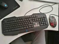Very good condition gaming keyboard and mouse
