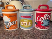 Tea, coffee and sugar canisters for sale