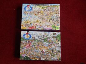 Two Gibson 1000 piece puzzles. I Love Summer and I Love Car Boot Sales