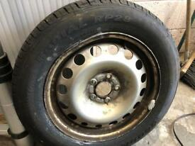 Brand new tyre and wheel be caddy 07 plate